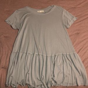 Urban outfitters light blue pleated tee shirt